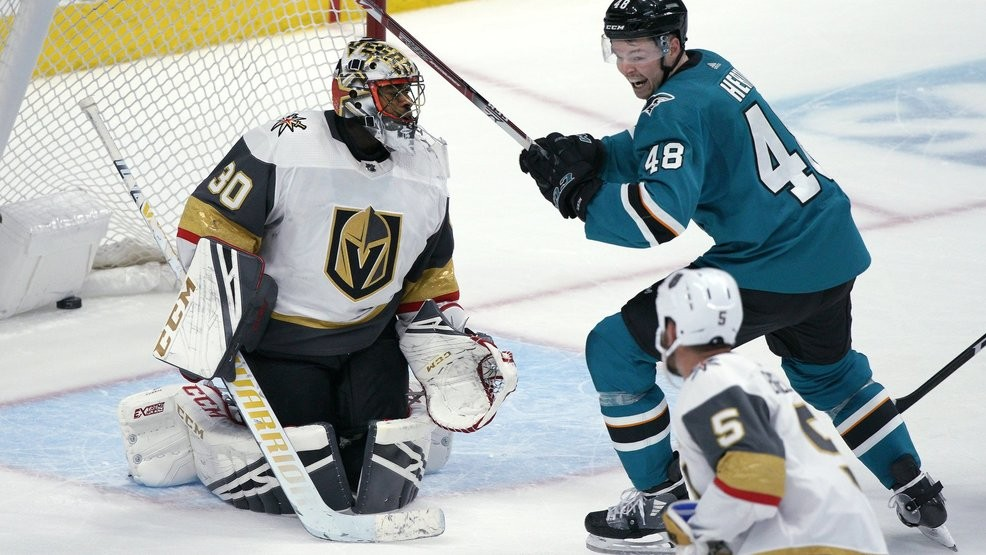 Burns Scores In Ot Sharks Top Golden Knights 4 3 Ksnv