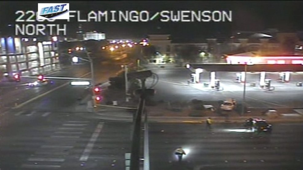 1 person dead after two-vehicle crash at Flamingo, Swenson