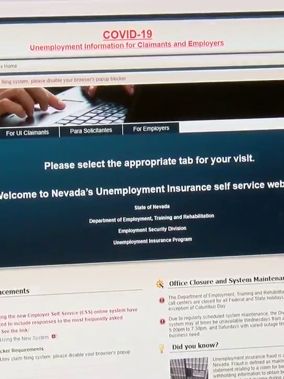 New Ongoing Nevada Unemployment Claims Decline For First Time Since June Ksnv