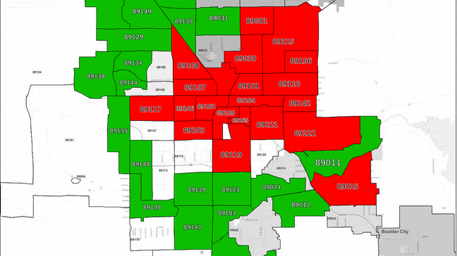 Study Shows Which Nevada Zip Codes Have The Highest And Lowest Poverty Rates Ksnv