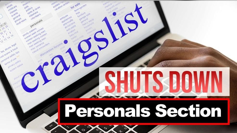 Craigslist ends US personals section over new sex
