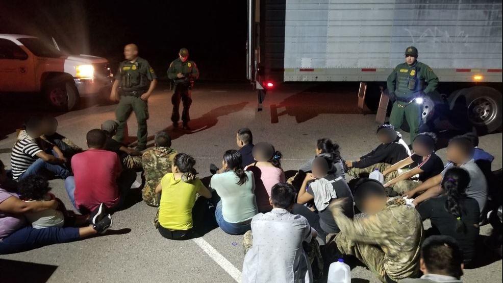 Human smuggler arrested, 33 people found inside truck