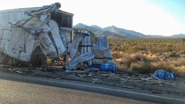 One person killed after 2 semis crash on Interstate 15 south