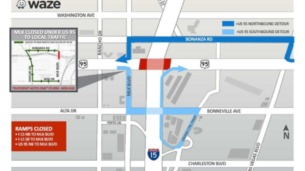Traffic Authority U S 95 At I 15 Full Closure Downtown May 18 21