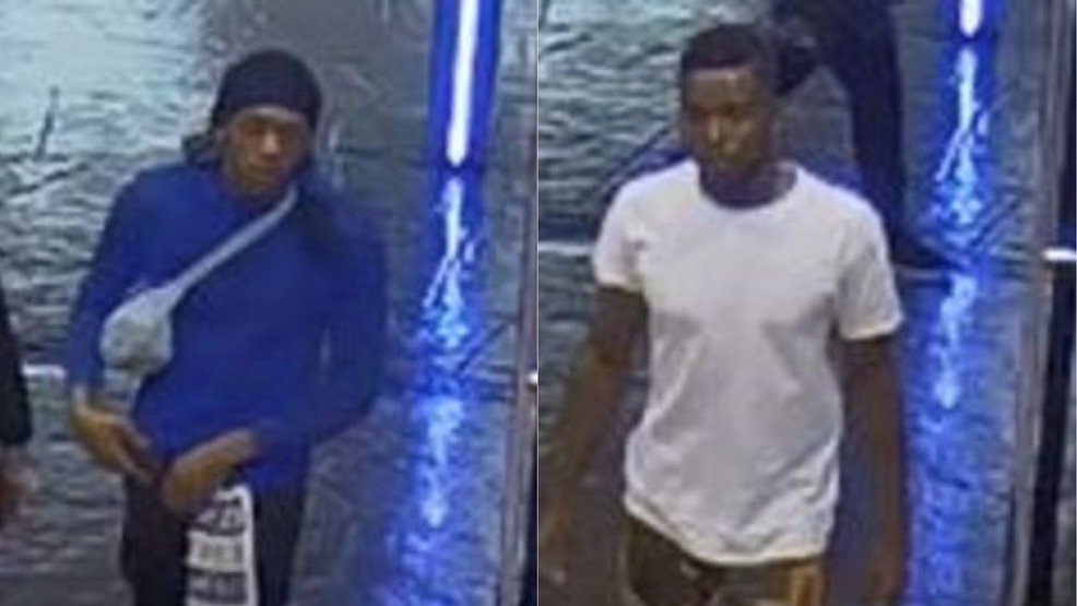 Two men sought after robbing a business inside the Forum