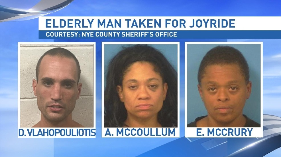 Three arrested after elderly man taken for joyride between