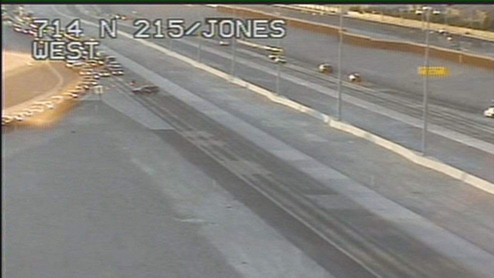 Traffic on 215 near North Jones shut down as officers deal with