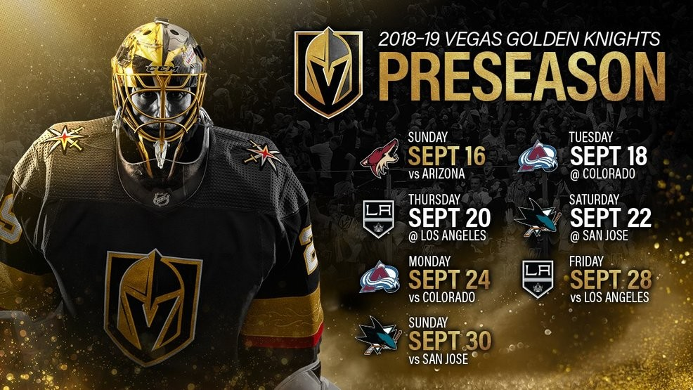 Golden Knights preseason schedule released